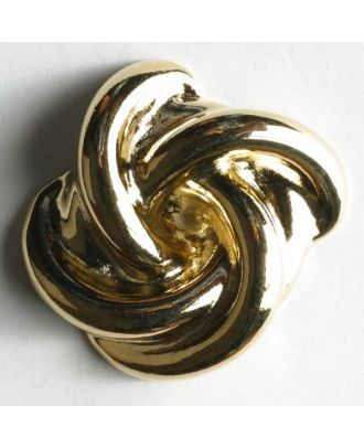 Full metal button - Size: 14mm - Color: gold - Art.No. 300265