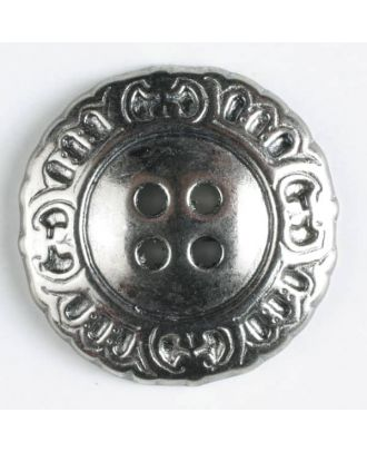 full metal button - Size: 23mm - Color: antique silver - Art.No. 330171