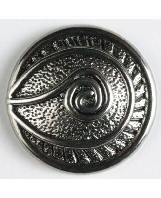 full metal button    - Size: 32mm - Color: antique silver - Art.-Nr.: 360167