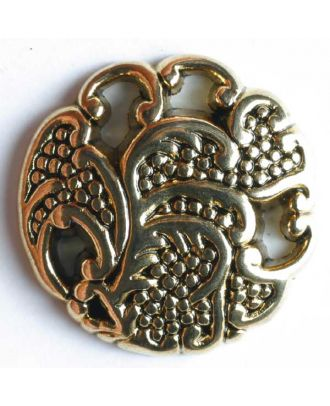 Full metal button - Size: 13mm - Color: antique gold - Art.No. 270399