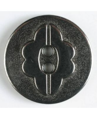 full metal button    - Size: 18mm - Color: antique silver - Art.-Nr.: 290343