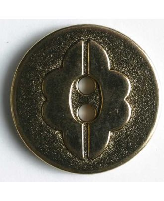 Full metal button - Size: 14mm - Color: antique gold - Art.No. 260675