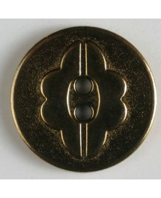 full metal button    - Size: 14mm - Color: antique tin - Art.-Nr.: 240780