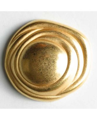 Full metal button - Size: 28mm - Color: dull gold - Art.No. 370146