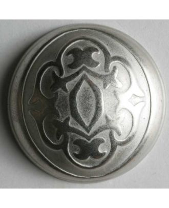 Full metal button - Size: 30mm - Color: dull silver - Art.No. 370145