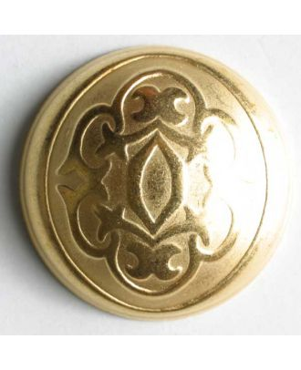 Full metal button - Size: 25mm - Color: dull gold - Art.No. 360198
