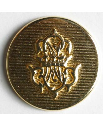 Coat of arms button, full metal - Size: 15mm - Color: gold - Art.No. 260744