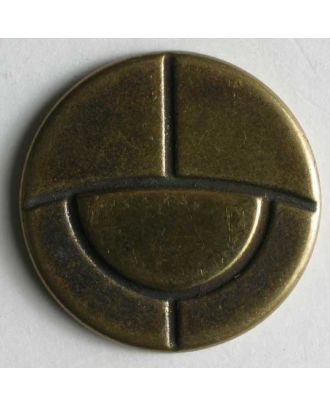 Full metal button - Size: 18mm - Color: antique brass - Art.No. 310382