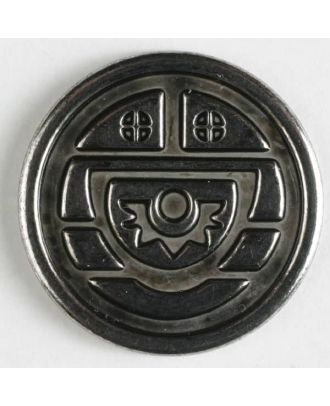 full metal button - Size: 23mm - Color: antique silver - Art.No. 330310