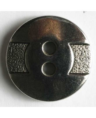 Full metal button - Size: 18mm - Color: antique silver - Art.No. 290457