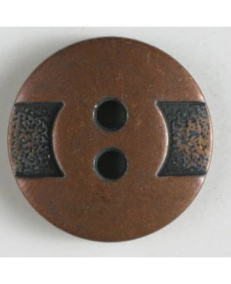 full metal button    - Size: 14mm - Color: copper - Art.-Nr.: 240907