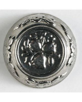 full metal button - Size: 25mm - Color: antique silver - Art.No. 350253