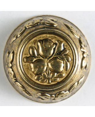 full metal button - Size: 28mm - Color: antique gold - Art.No. 370168