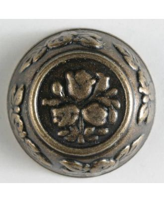 full metal button - Size: 18mm - Color: antique brass - Art.No. 290461