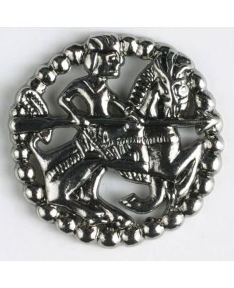 full metal button - Size: 35mm - Color: antique silver - Art.No. 370334