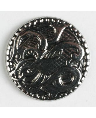 full metal button - Size: 19mm - Color: antique silver - Art.No. 231306