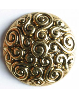 Full metal button - Size: 28mm - Color: antique gold - Art.No. 370177
