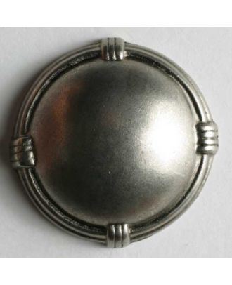 Full metal button - Size: 28mm - Color: dull silver - Art.No. 360308