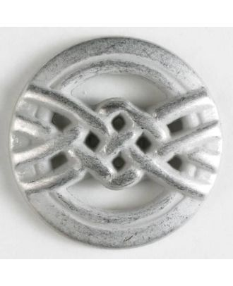 full metal button - Size: 20mm - Color: dull silver - Art.No. 300589