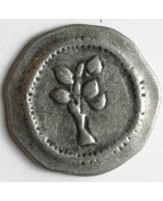 Full metal button - Size: 20mm - Color: antique tin - Art.No. 300581