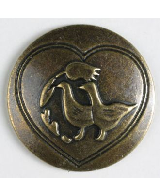 full metal button - Size: 30mm - Color: antique brass - Art.No. 370203