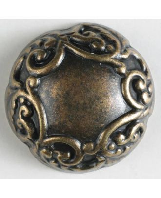 full metal button - Size: 20mm - Color: antique brass - Art.No. 300610