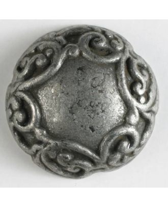 full metal button - Size: 20mm - Color: antique tin - Art.No. 300611