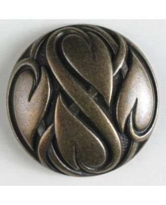 full metal button - Size: 28mm - Color: antique brass - Art.No. 360316
