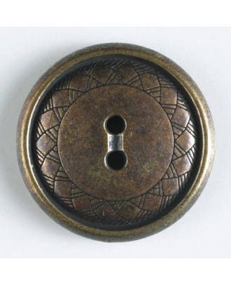 full metal button    - Size: 15mm - Color: antique tin - Art.-Nr.: 240998