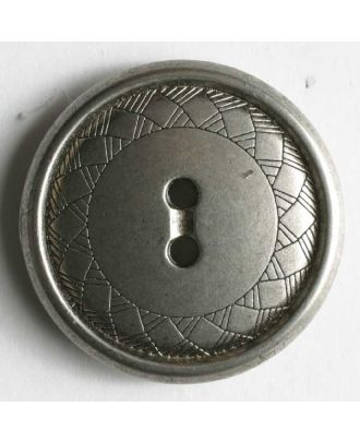 Full metal button - Size: 23mm - Color: dull silver - Art.No. 330456