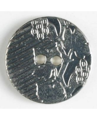 full metal button - Size: 20mm - Color: antique tin - Art.No. 300687