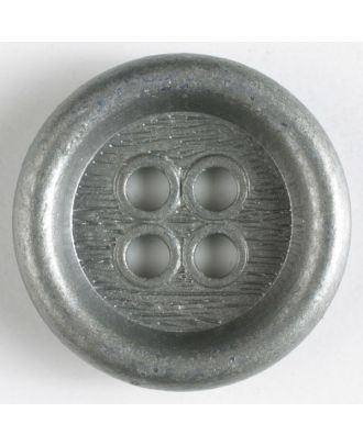 full metal button - Size: 23mm - Color: antique silver - Art.No. 310438