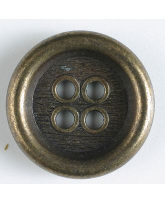 full metal button - Size: 23mm - Color: antique brass - Art.No. 310451