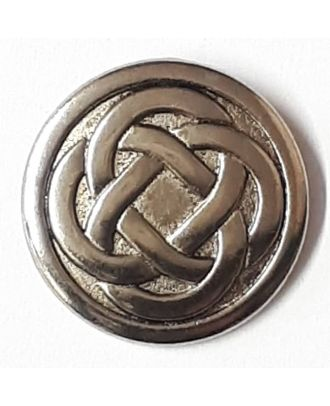 Celtic Knot button with shank - Size: 23mm - Color: silver - Art.No. 330523