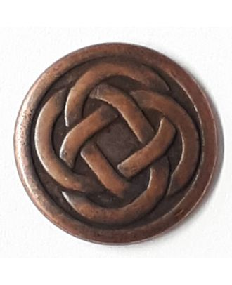 celtic knot with shank - Size: 23mm - Color: copper - Art.No. 331146