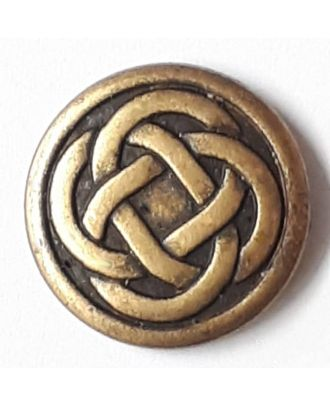 celtic knot with shank - Size: 23mm - Color: antique brass - Art.No. 331147