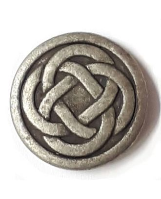 celtic knot with shank - Size: 23mm - Color: antique tin - Art.No. 331148