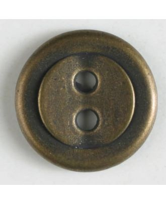 full metal button    - Size: 11mm - Color: antique tin - Art.-Nr.: 211574