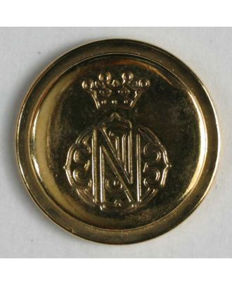 Coat of arms button, full metal - Size: 15mm - Color: gold - Art.No. 260960