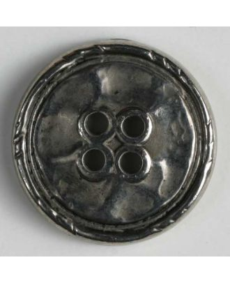 Full metal button - Size: 25mm - Color: antique silver - Art.No. 350354
