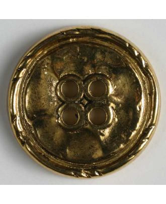 Full metal button - Size: 25mm - Color: antique gold - Art.No. 360362