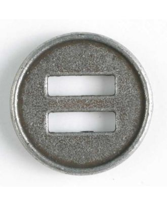 full metal button - Size: 28mm - Color: antique tin - Art.No. 360451