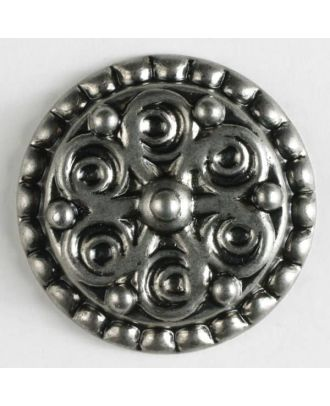 full metal button - Size: 28mm - Color: antique silver - Art.No. 370369