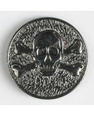 full metal button - Size: 25mm - Color: antique silver - Art.No. 350413