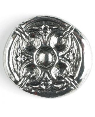 full metal button - Size: 30mm - Color: antique silver - Art.No. 370385