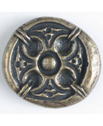 full metal button - Size: 30mm - Color: antique brass - Art.No. 370386