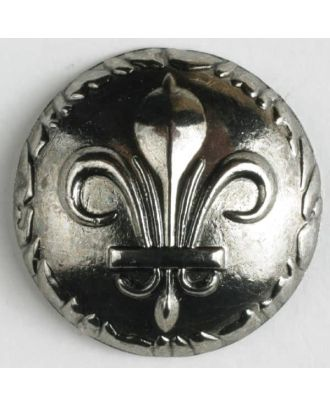 full metal button    - Size: 25mm - Color: antique silver - Art.-Nr.: 370509