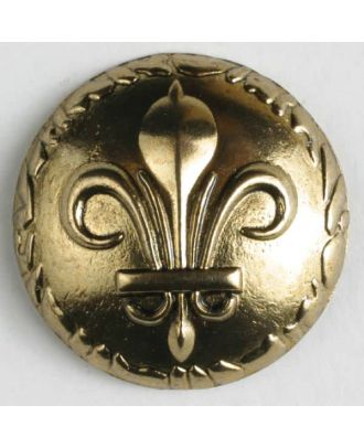 full metal button    - Size: 25mm - Color: antique gold - Art.-Nr.: 370511