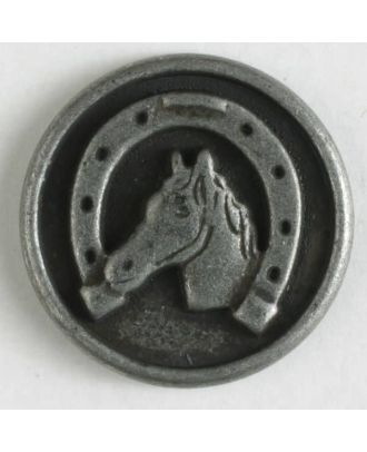 Metal button with shank - Size: 20mm - Color: antique tin - Art.No. 310757