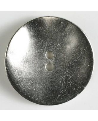 full metal button with 2 holes - Size: 40mm - Color: dull silver - Art.No. 410172